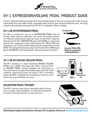 EV 1 Product Guide
